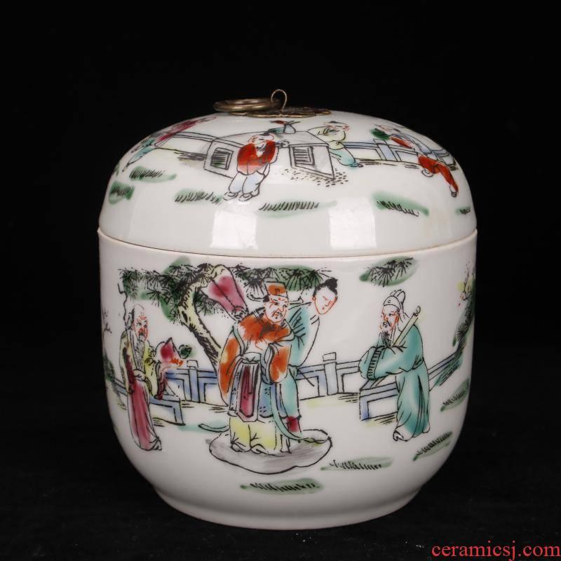 Archaize of jingdezhen porcelain stagnation pastel tong qu tougue pot POTS storage jar of ancient Chinese style household furnishing articles