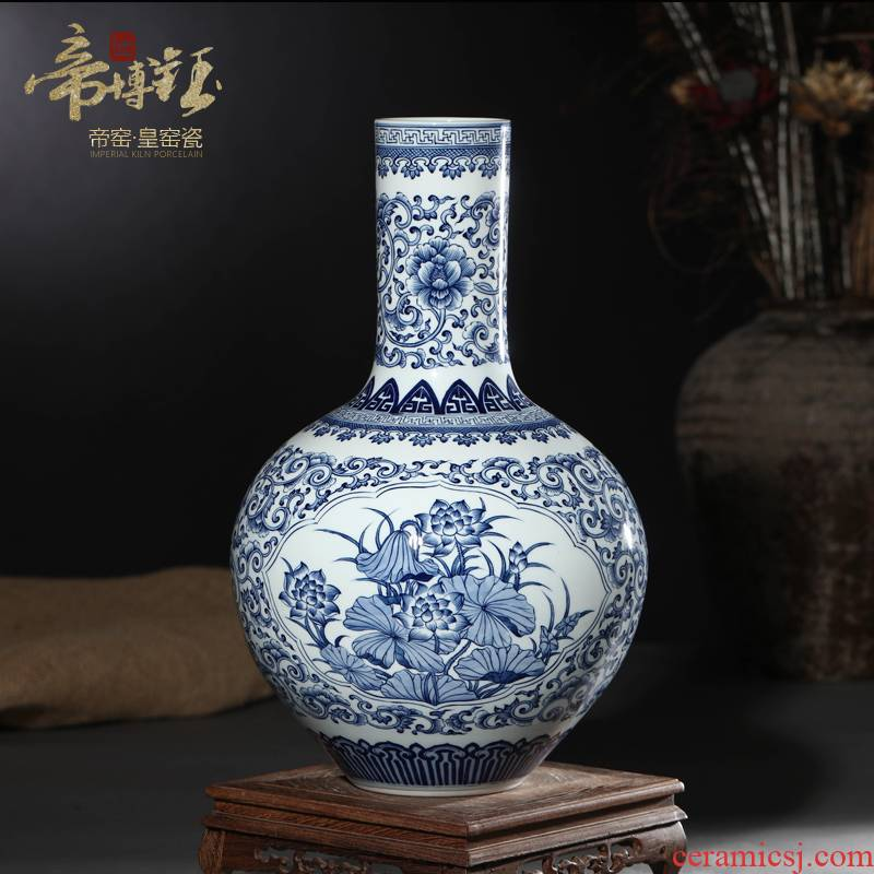 Antique hand - made porcelain of jingdezhen ceramics home furnishing articles sitting room window lotus tree decorations arts and crafts