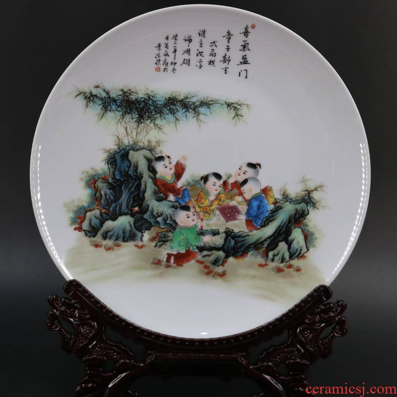 Archaize of jingdezhen porcelain beaming the qing qianlong com.lowagie.text.paragraph was the packed flat plate of Archaize furniture decorative furnishing articles