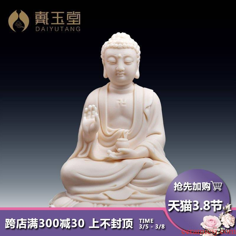 "Yutang dai ceramic amitabha automotive decorative furnishing articles with Buddha worship jade red porcelain 5 ""Buddha small figure of Buddha"