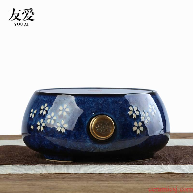 Love yard sakura fly ceramic the boiled tea, the electric TaoLu jug kettle boiling pot set tea service