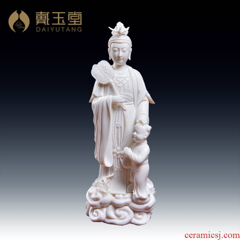 Yutang dai dehua ceramic Buddha home furnishing articles worship Taoist statues of Buddha sunchon develping the Notre Dame
