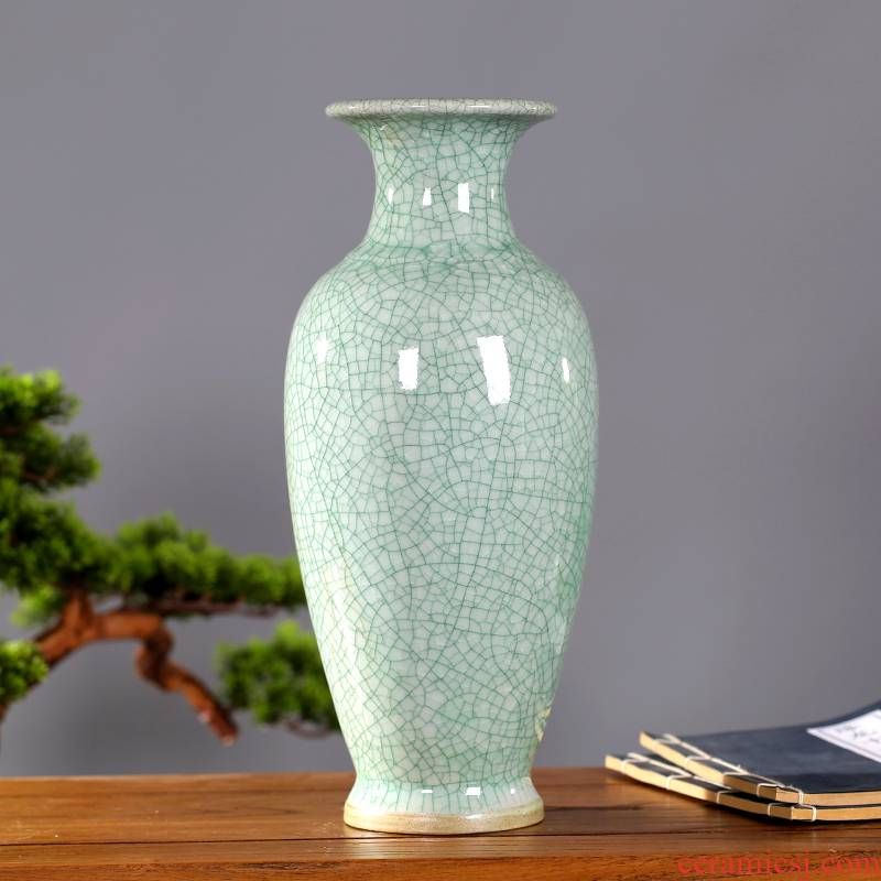 Jingdezhen ceramic vases, flower arranging archaize sitting room up flower implement Chinese style household adornment porcelain vases furnishing articles