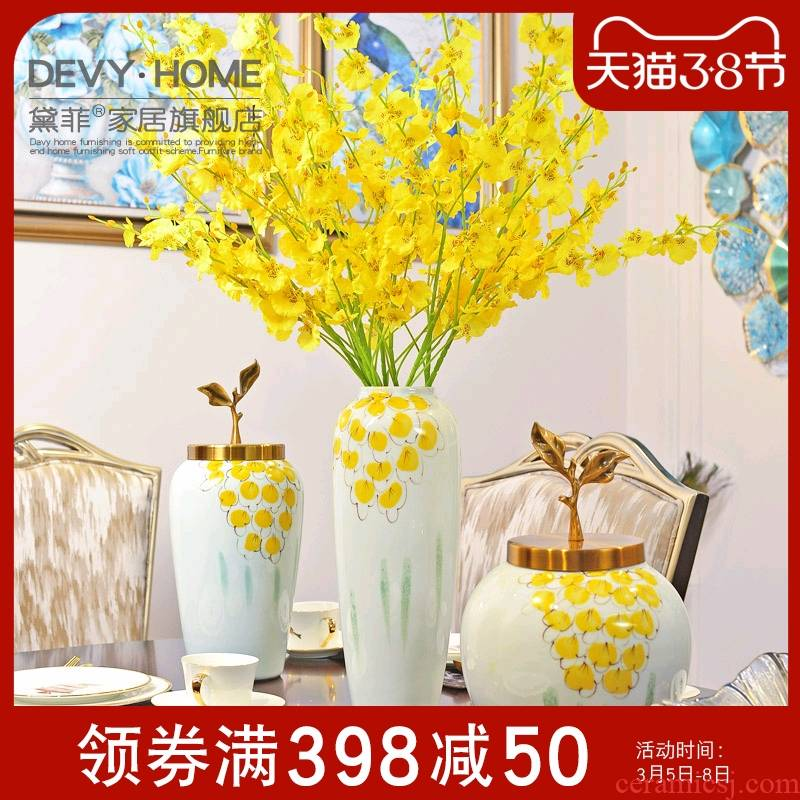 Key-2 Luxury neo - classical European ceramics vase I sitting room porch TV cabinet table flower arranging, adornment is placed