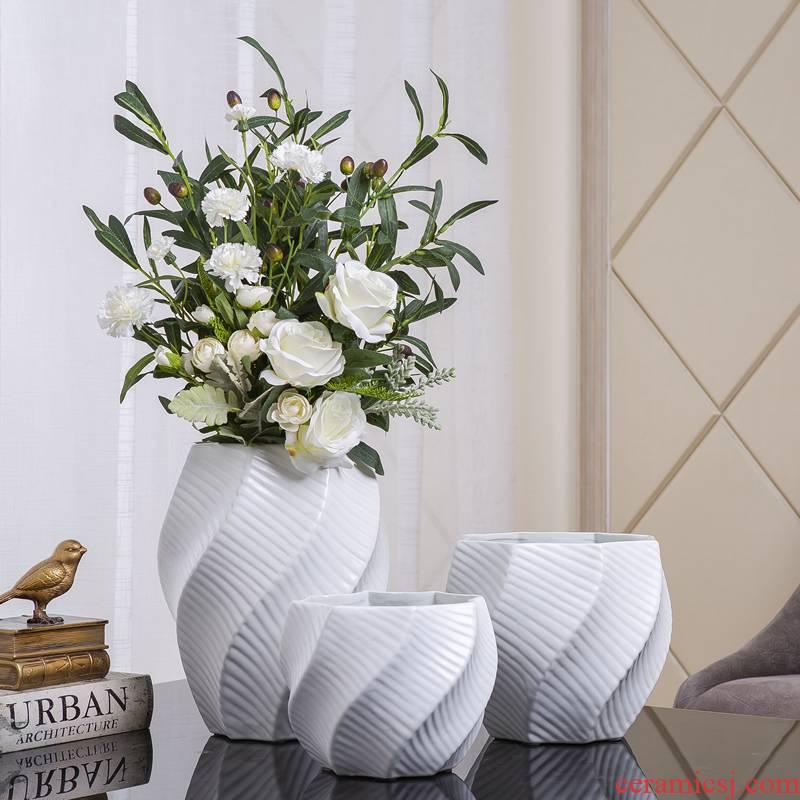 Ins Nordic ceramic vase furnishing articles table dry flower arranging flowers sitting room designer example room decoration soft decoration