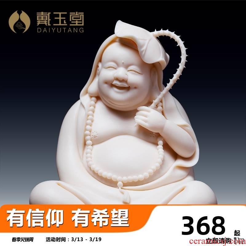 Yutang dai household ceramics laughing Buddha maitreya Buddha a bigger home to worship the Buddha crafts/happy smiling