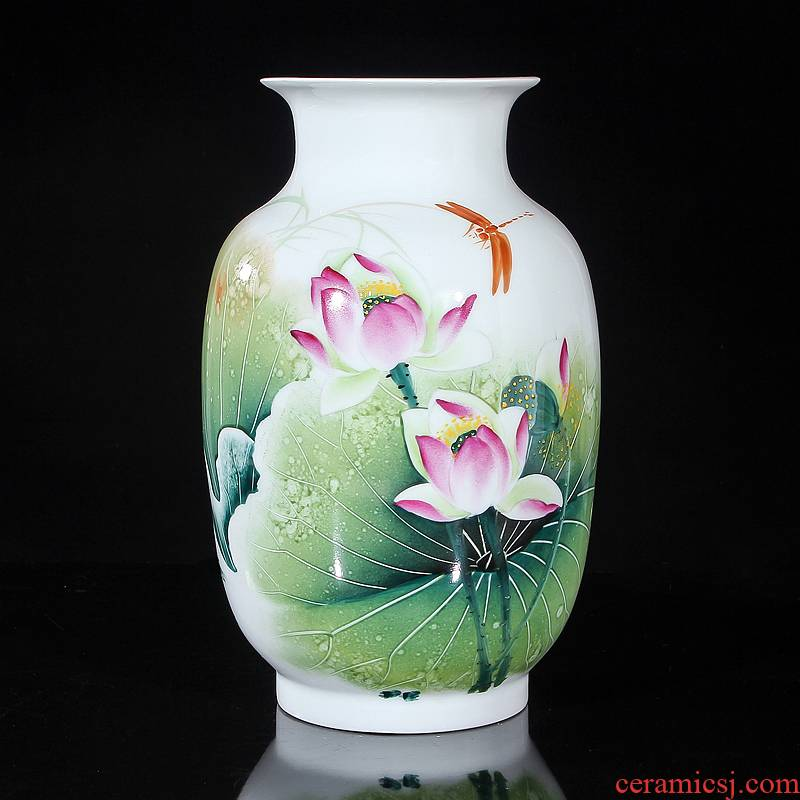 "Jingdezhen ceramics ""Han Pinghui"" celebrity famous works hand - made Dutch vase collection certificate"