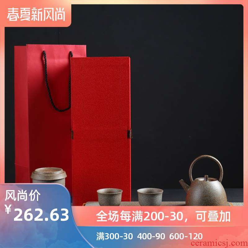 Poly real (sheng Japanese dry landscape and tea table contracted household kung fu tea set zen ceramic dry terms tray box