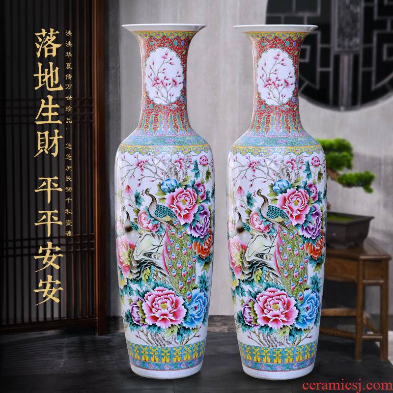 Jingdezhen ceramics hand - made out of large vases, Chinese style hotel decoration furnishing articles customized gifts