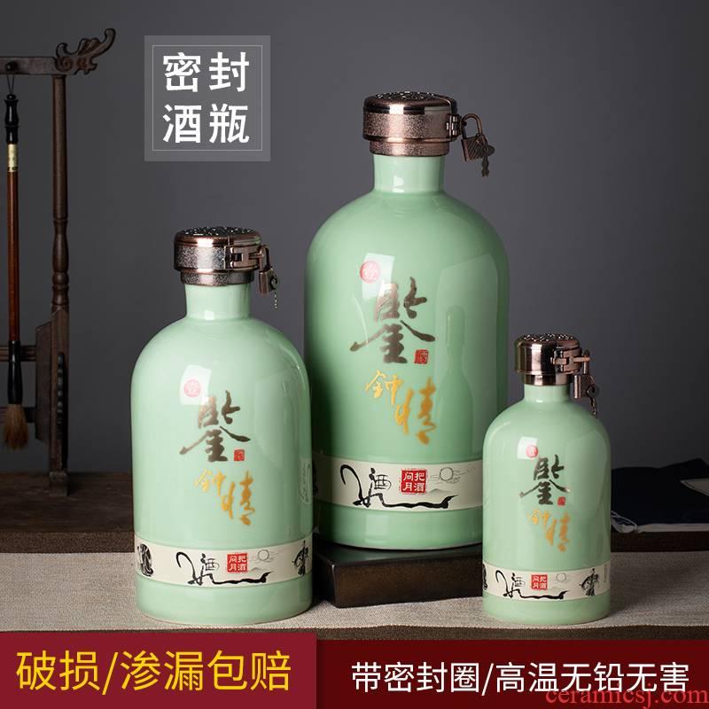 Jingdezhen ceramic bottle 1/3/5 jin wine jars creative 1 catty put archaize home empty wine bottle sealed bottles