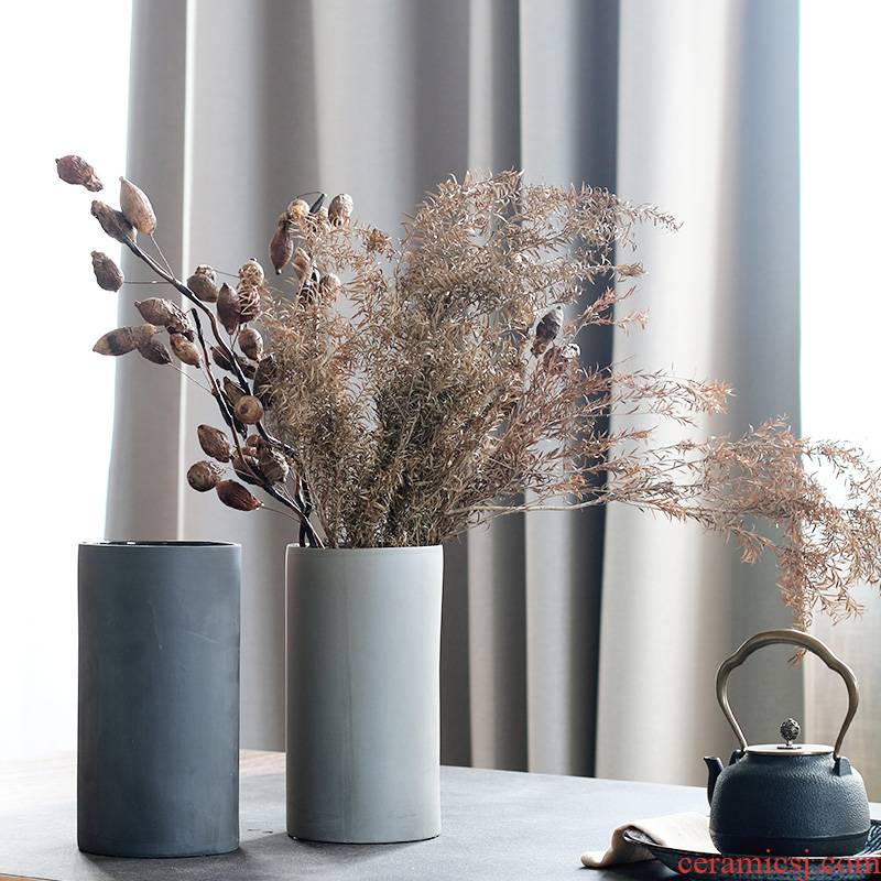Wabi-sabi aesthetic element lens bearing household adornment sitting room porch vase creative furnishing articles clear soup WoGuo arranging flowers