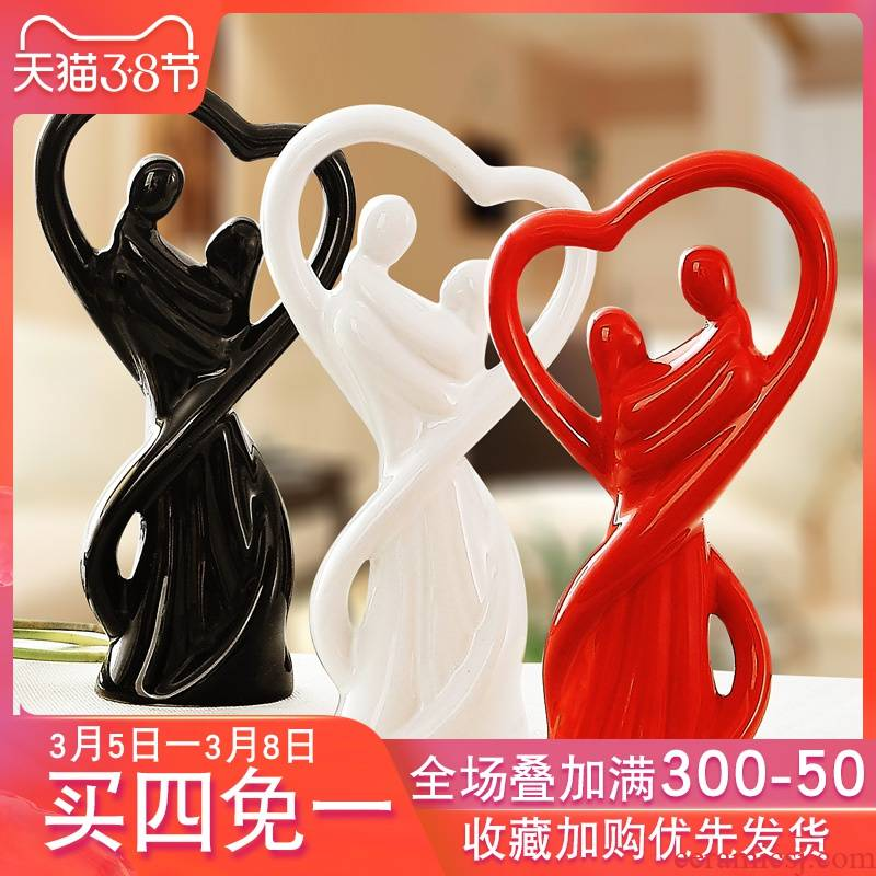 Handicraft furnishing articles contracted and I creative fashion household ceramics sitting room adornment bedroom desktop small ornament
