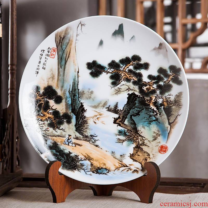 Jingdezhen ceramics furnishing articles sitting room ark, hang dish dish Chinese arts and crafts decorative home decoration plate