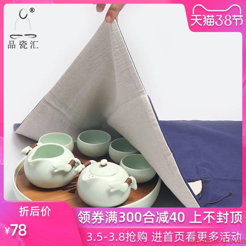 The Product cloth towels zen fabric cloth art porcelain sink cover cup tea tea towel cloth table flag tea tea accessories