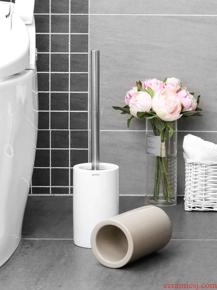 Swiss silk pury Tube ceramic creative no dead Angle, the toilet brush set to wash the toilet clean toilet brush