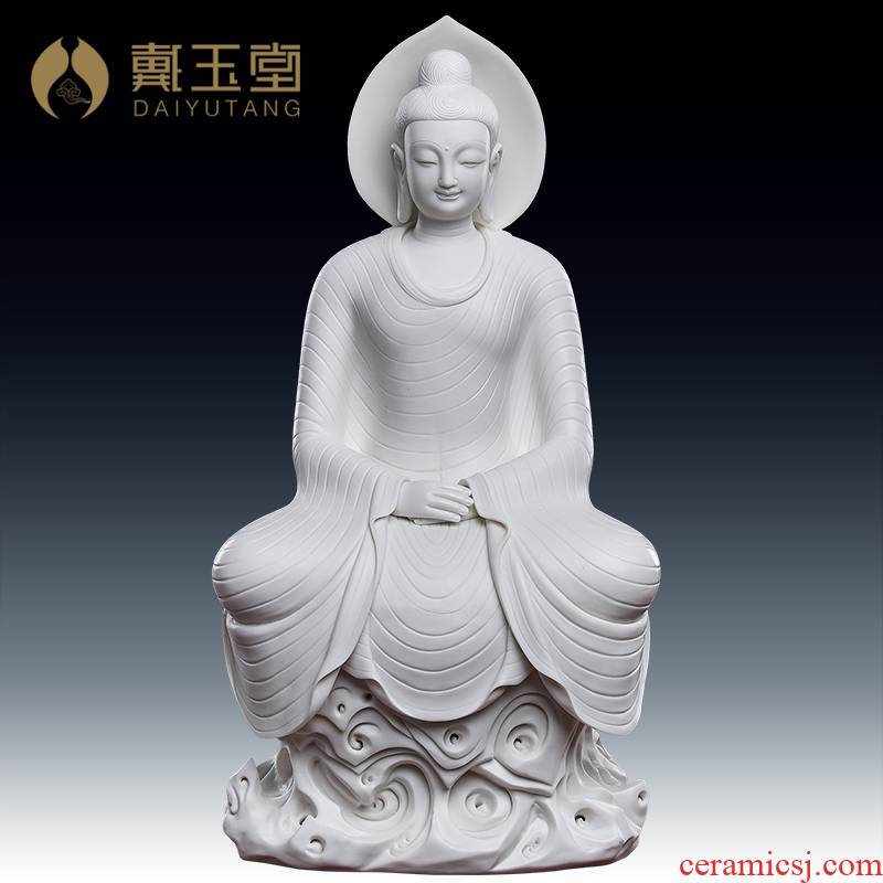 Yutang dai dehua white porcelain the mogao grottoes of dunhuang like smiling Buddha statute honors that occupy the home furnishing articles northern wei dynasty to zen Buddhism