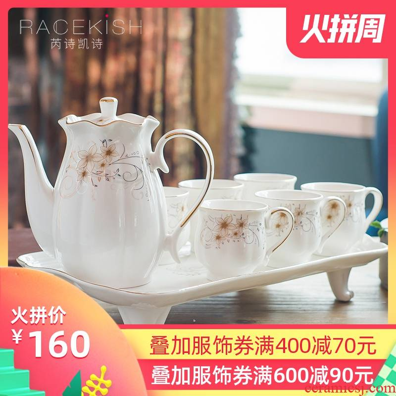 European coffee cup suit creative contracted English afternoon tea tea sets red cup dish of ceramic coffee set