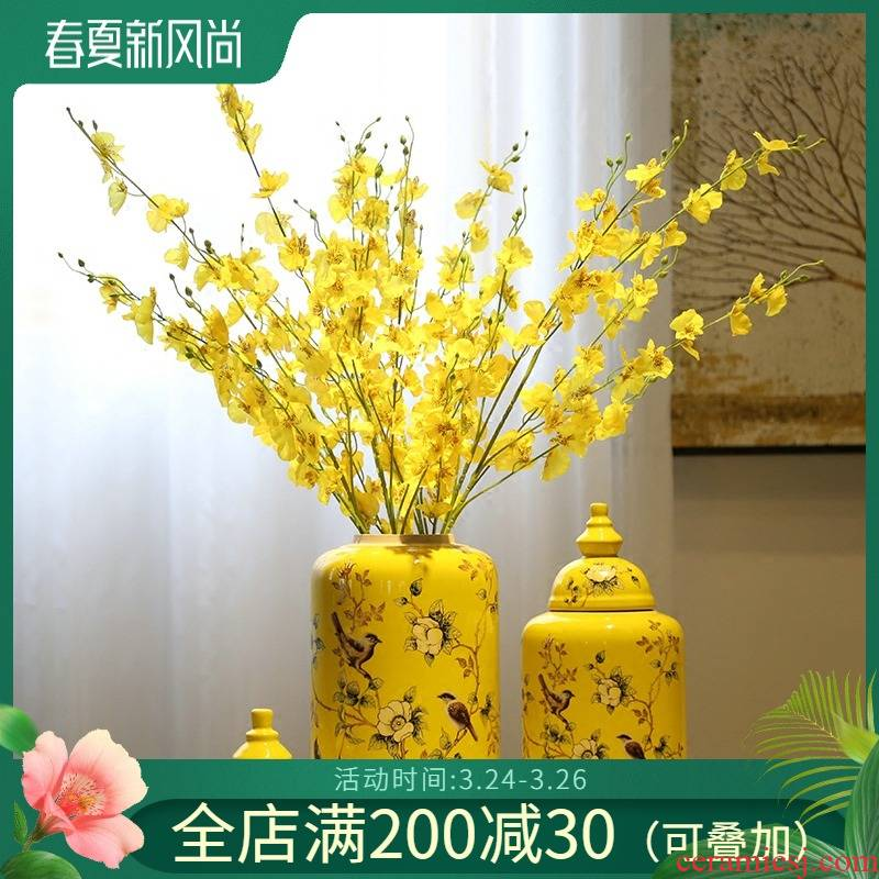 American pastoral painting of flowers and general as cans of new Chinese style ceramic vase flower furnishing articles club restaurant sitting room adornment flowers