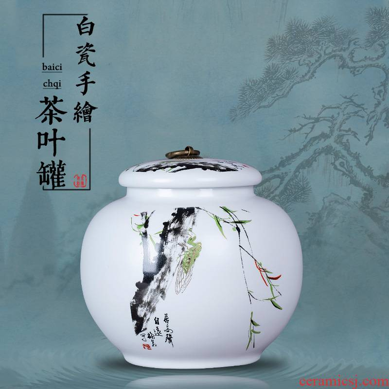 Jingdezhen ceramics white porcelain tea pot home a kilo who spinosa seal pot, tea, green tea a large