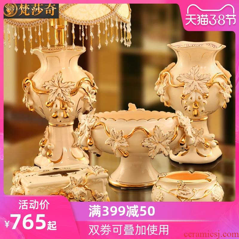 Vatican Sally, European - style key-2 luxury furnishing articles sitting room tea table grapes practical household ceramics decoration wedding gifts gifts