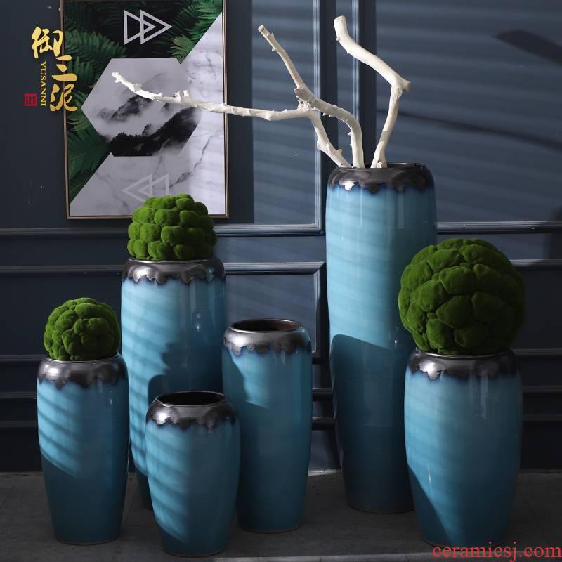 European ceramic vase Nordic I and contracted villa landing simulation TV ark suit sitting room flower arranging furnishing articles