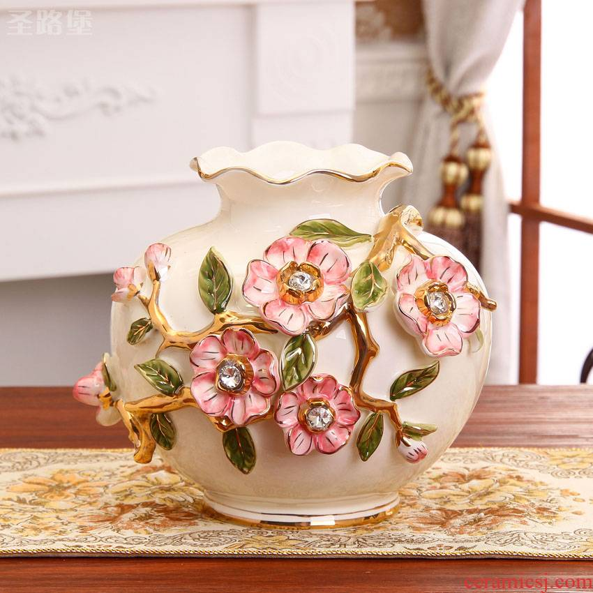 Fort SAN road of the new European vase decoration flower arranging flower implement large ceramic vase furnishing articles household act the role ofing is tasted package mail sitting room