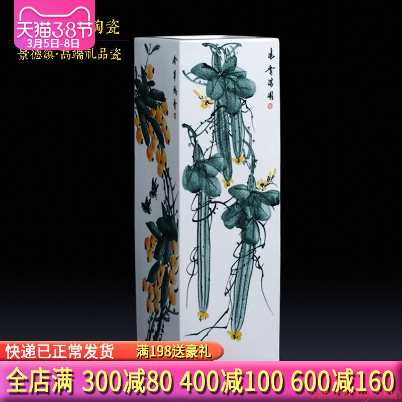Jingdezhen ceramics famous master hand of large vases, flower arranging living room TV cabinet study porch place