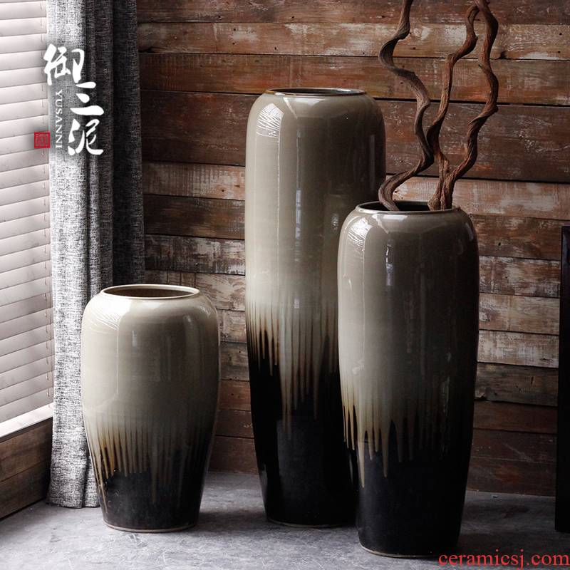 I and contracted ceramics of large vases, flower implement courtyard villa window flower arranging place jingdezhen large flower pot