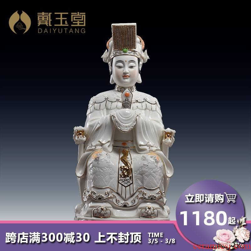 Yutang dai porcelain statute of mazu maejo sacrifice mazu as household consecrate Buddha furnishing articles paint color