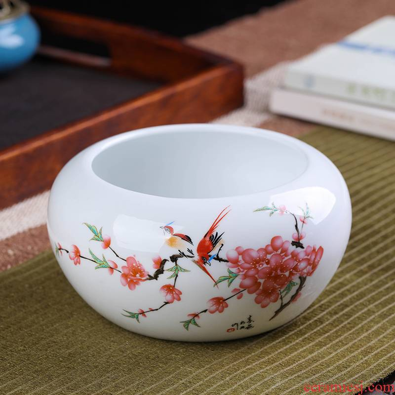 Jingdezhen ceramic wash the pen students use four treasures the ashtray water lily aquarium meaty plant grow pot