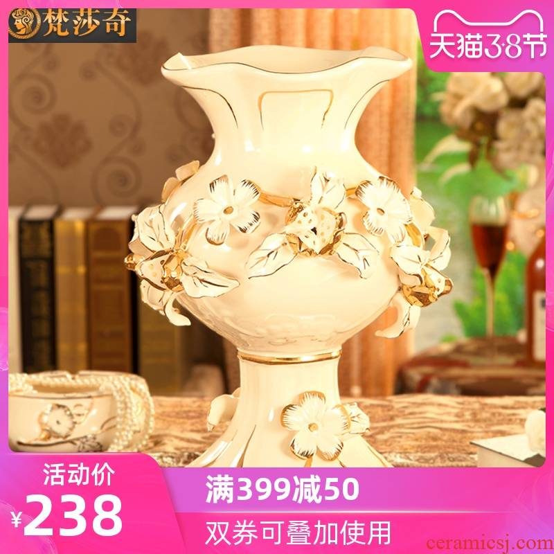 European pomegranate flowers, ceramic vase restoring ancient ways the sitting room TV ark, large flower adornment example room soft furnishing articles