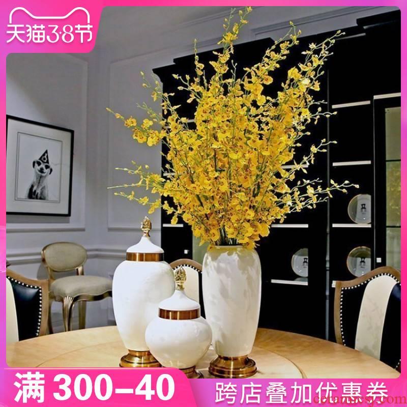 European home furnishing articles furnishing articles ceramic vase table decorations simulation flower art villa TV ark, desktop decoration