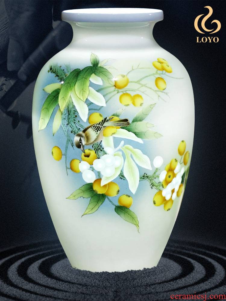 Jingdezhen ceramic furnishing articles hand - made vases, flower arranging dried flower Chinese office sitting room porch decoration craft gift