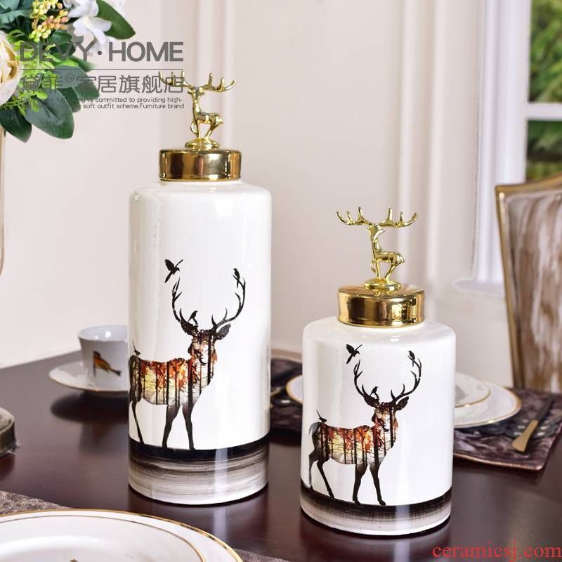 Modern example room ceramic vase wine furnishing articles creative household act the role ofing is tasted, the sitting room porch TV ark, wedding gift