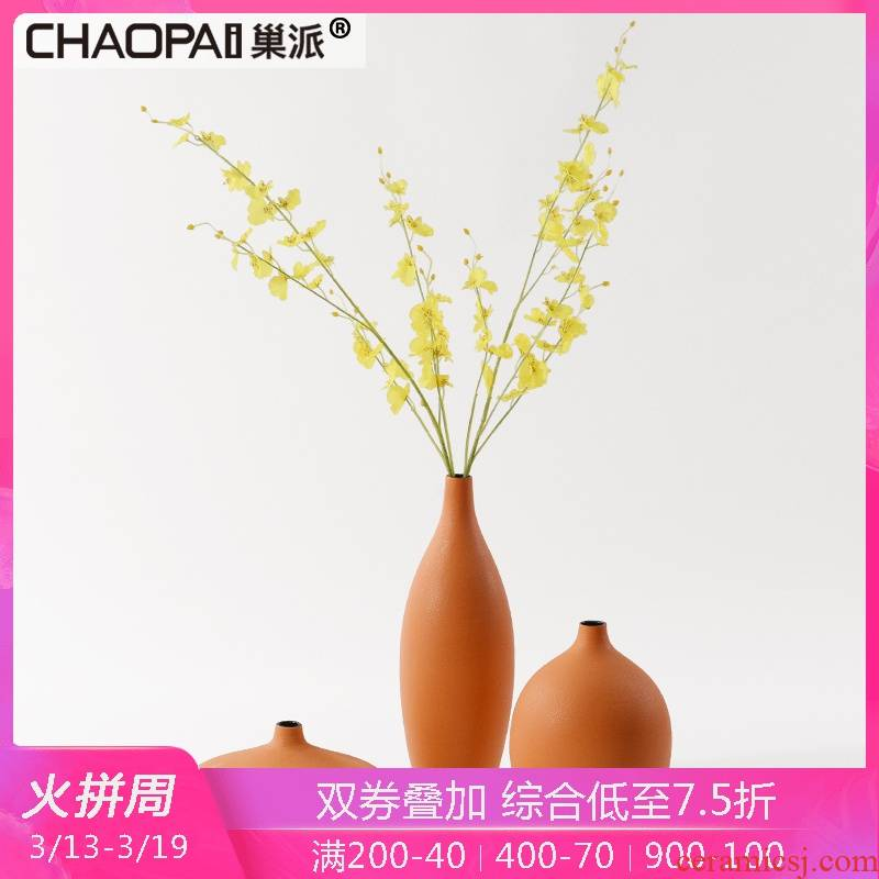 Creative new Chinese flower arranging flowers exchanger with the ceramics fine expressions using furnishing articles home sitting room desktop vase three - piece soft adornment