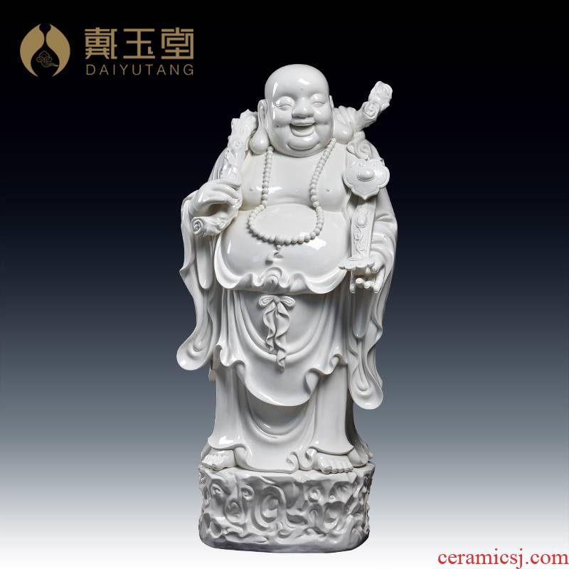 Yutang dai ceramic big Buddha floor furnishing articles vestibular adornment/1 m Gao Lishi maitreya D12-34