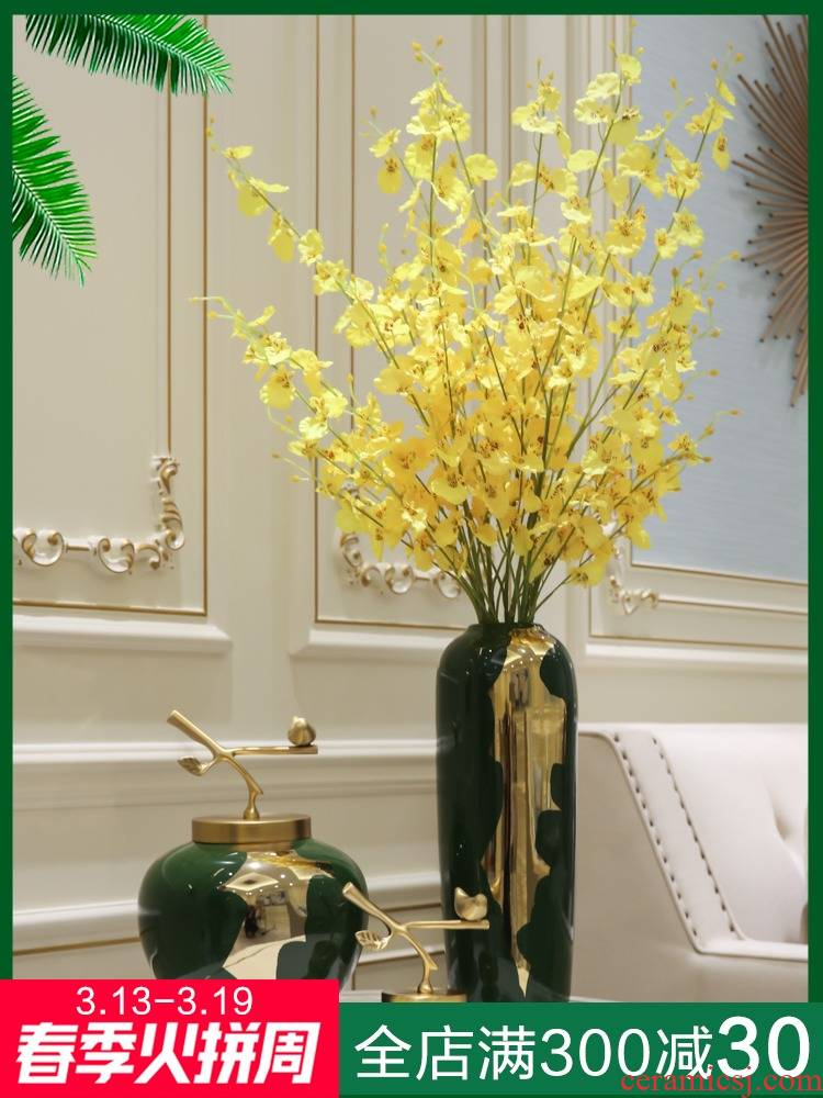 Mesa of light European - style key-2 luxury furnishing articles between sitting room porch example simulation flowers floral decoration decorative porcelain vase