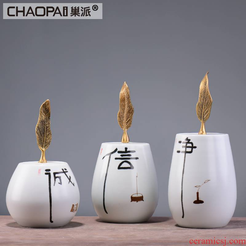 The New Chinese zen ceramic pot furnishing articles creative indoor soft adornment between example porch sitting room furniture decoration