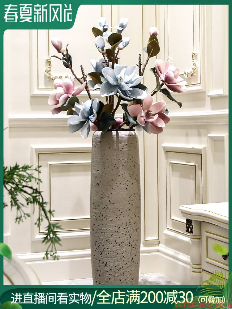 High ground large flower arranging ceramic vases, dried flower decorations place to live in the sitting room is I and contracted creative floral outraged