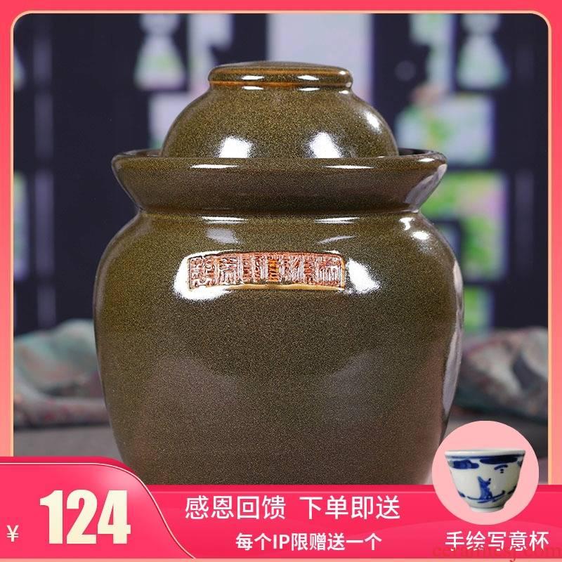Jingdezhen ceramic large household pickle jar airtight pickle jar sichuan pickles pickled altar jars