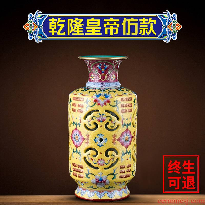 Better sealed up vase furnishing articles sitting room of Chinese style household jingdezhen ceramic famille rose decoration office decoration