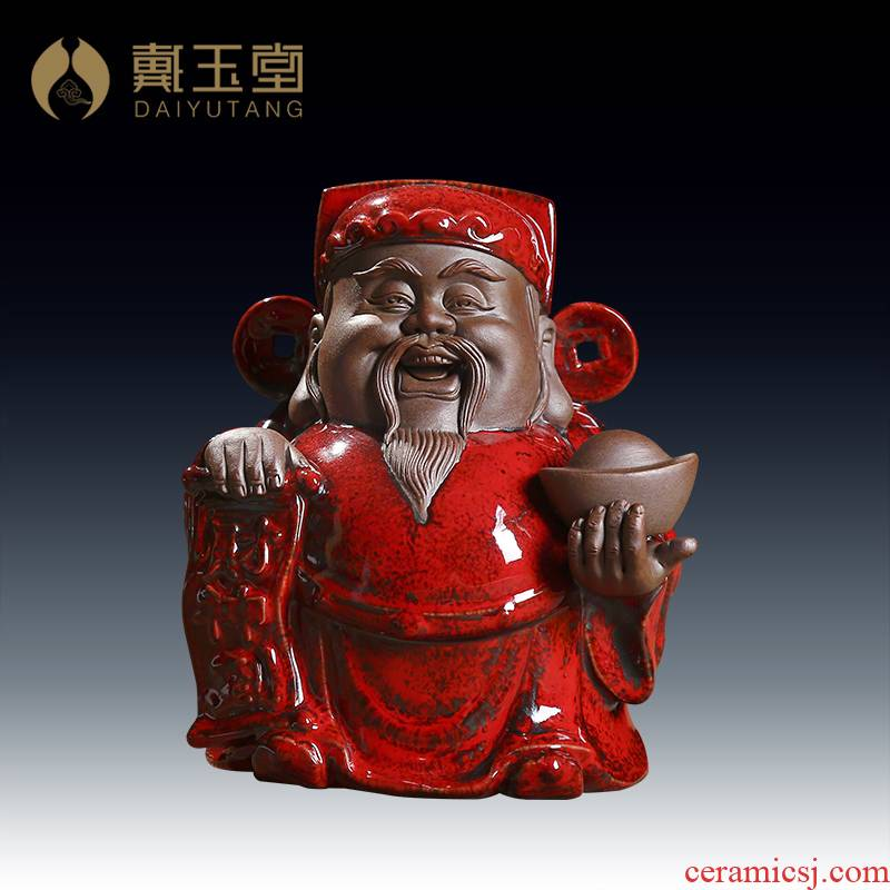 Yutang dai wealth Buddha ceramics handicraft furnishing articles, household to household store opening gifts