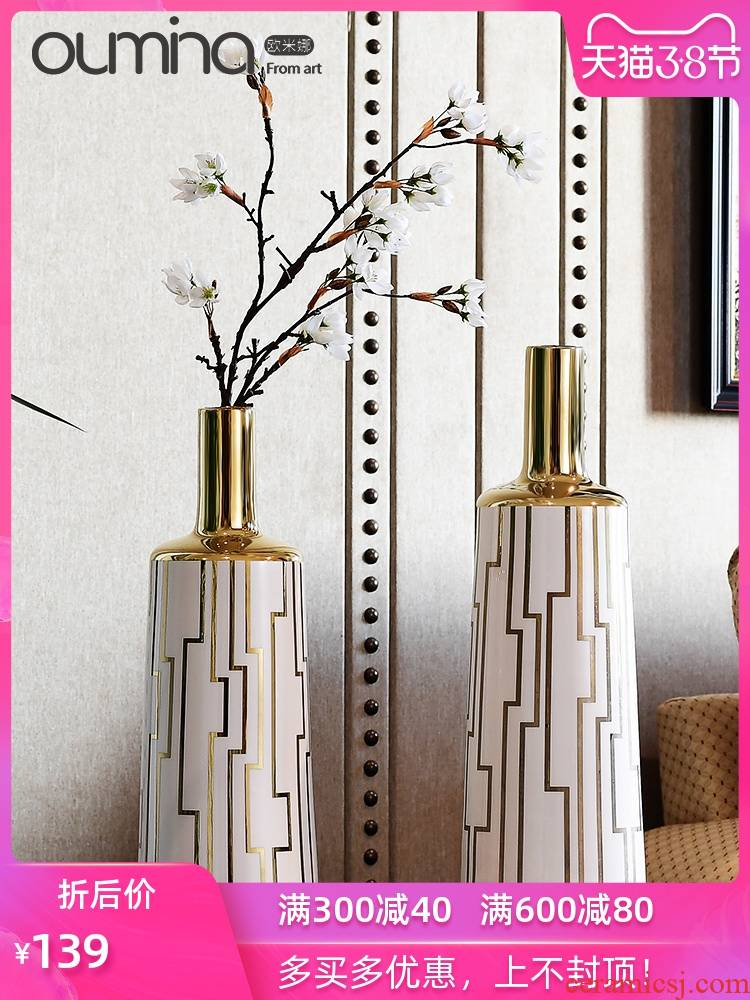 The mina European big flower implement furnishing articles home sitting room creative flower arranging dried flower porcelain household ceramic decoration