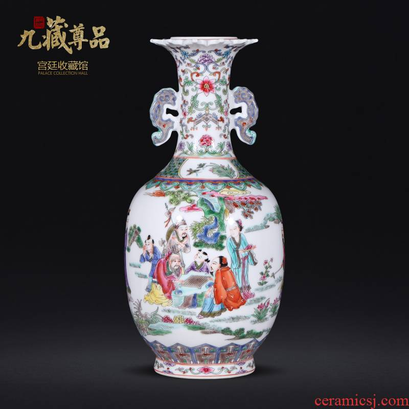 About Nine sect Buddha article learn shi figure character ears statute imitation the qing qianlong hand - made ceramic vases, jingdezhen Chinese style furnishing articles