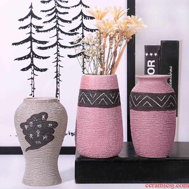 Special offer a clearance rule ceramic POTS restoring ancient ways coarse pottery dried flower water raise the size vases, flower arrangement sitting room place flowerpot