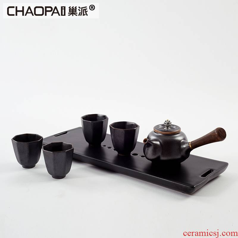 New Chinese style ceramic kung fu tea zen furnishing articles contracted and I tea sample room furniture soft decoration