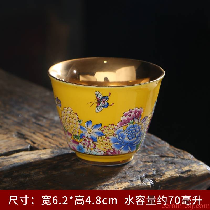 Up with ceramic cups of tea light kung fu small cup master cup single cup light tea bowl sample tea cup perfectly playable cup