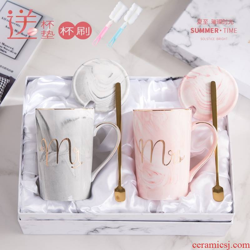 Flamingos marble glass ceramic keller with spoon lovers ultimately responds a cup of a female student office