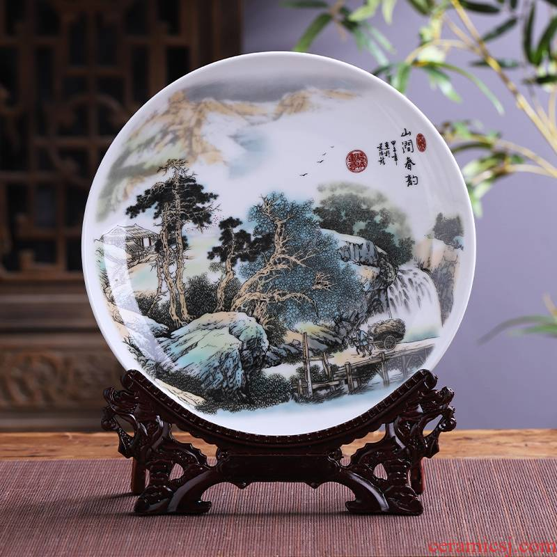 Jingdezhen ceramics hang dish decorative plates of modern Chinese style household act the role ofing is tasted, the sitting room TV ark, handicraft furnishing articles