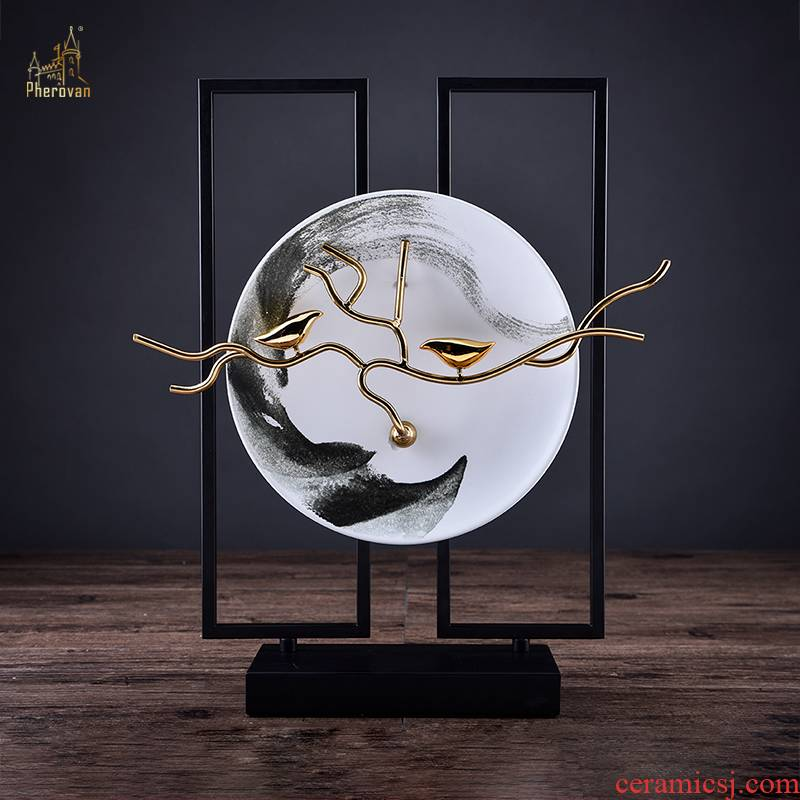 New Chinese style household soft adornment ceramic art decoration sample room TV ark hotel in the sitting room porch place